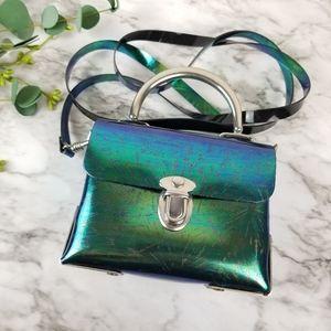 Vintage Y2K Metallic Plastic Mini Bag
